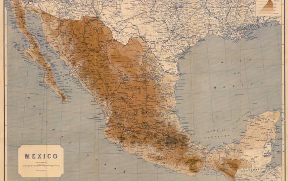 Stara mapa Meksyku